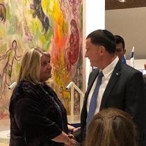 Ere-voorzitter Kouky Frohmann met Spreker van de Knesset Yuli Edelstein