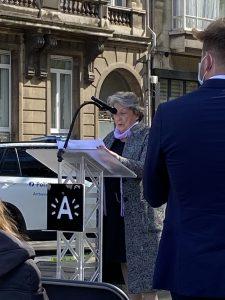 Voorzitter Regina Suchowolski-Sluszny